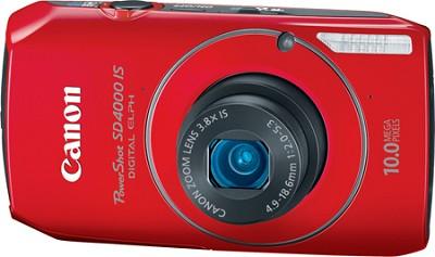 Powershot SD4000 IS 10.1 MP Digital ELPH Camera (Red)