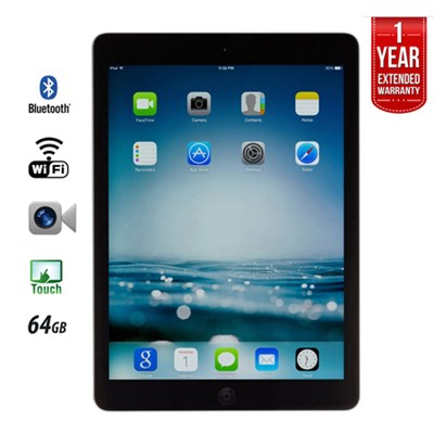 iPad Air A1474 64GB, Wi-Fi, Black (IPADAIRB64) - Certified Refurbished
