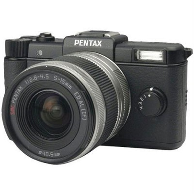 Q Black 12.4MP Compact System Camera Kit w/ Standard 5-15mm  Zoom Lens