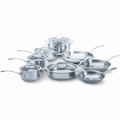 Tri-Ply Stainless Steel 13-pc. Cookware Set - 1767951