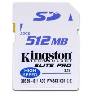 512 MB Elite Pro Secure Digital (SD) Cards - 50x