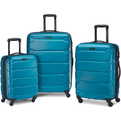 Omni Hardside Luggage Nested Spinner Set 20`/24`/28` Caribbean Blue (68311-2479)