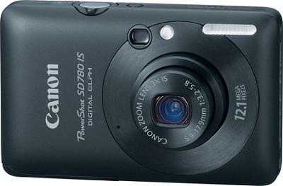 Powershot SD780 IS 12MP Digital ELPH Camera (Black) - REFURBISHED
