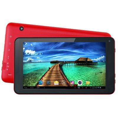 7` Android Quad-Core Tablet in Red - SC-4207RED