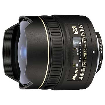 10.5mm  F/2.8G ED-IFAF DX Fisheye Lens, With Nikon 5-Year USA Warranty