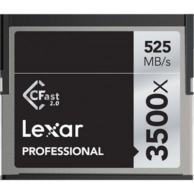 Professional 3500x CFast 2.0 Memory Card for 4K Video Cameras - LC64GCRBNA3500