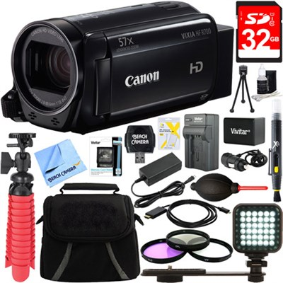VIXIA HF R700 Full HD Black Camcorder + 32GB Card and Accessory Bundle