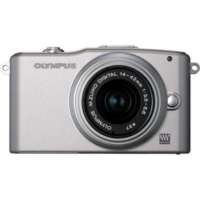 E-PM1 Silver w/14-42mm Lens - OPEN BOX