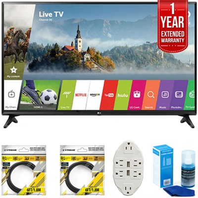 49` Class Full HD Smart LED TV 2017 Model 49LJ5500 with Extended Warranty Kit