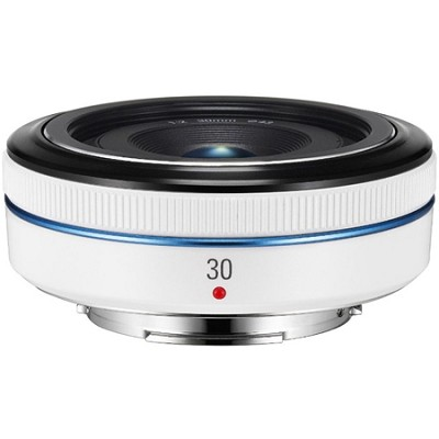 30mm  f/2.0 NX Pancake lens for NX Series Cameras - White