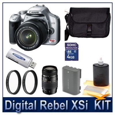 Rebel XSi DSLR Dual Lens (CN18-55 & TM70-300) Ultimate Bundle