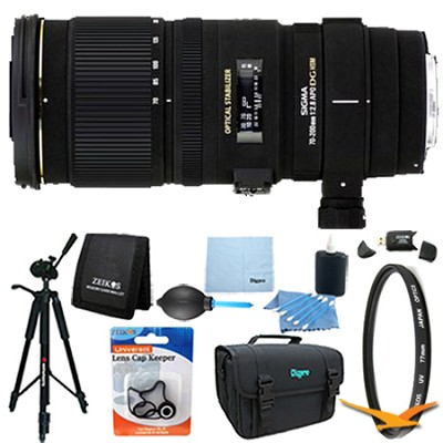 70-200mm f/2.8 APO EX DG HSM OS FLD Zoom Lens for Nikon DSLRs Lens Kit Bundle