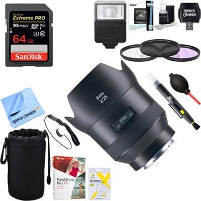 Batis 25mm f/2.0 Lens for Sony E Mount + 64GB Ultimate Kit