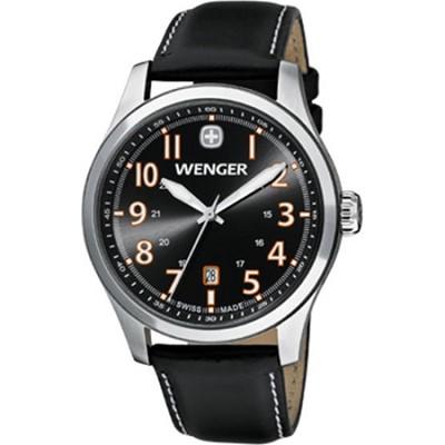 Men's Terragraph Watch - Grey Dial/Black Leather Strap