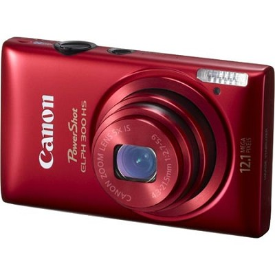 PowerShot ELPH 300 HS 12MP Red Digital Camera w/ 1080p Video