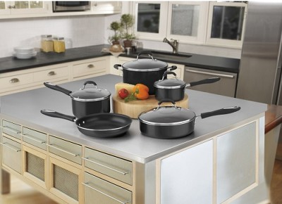 Advantage Nonstick 9-Piece Cookware Set - Black