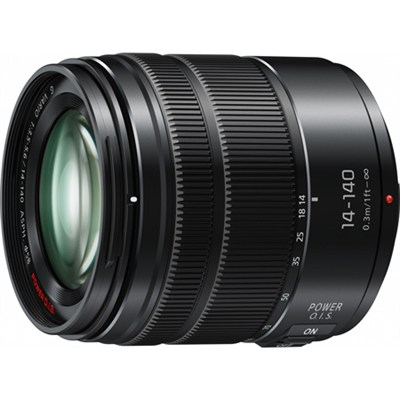 LUMIX G VARIO 14-140mm F3.5-5.6 ASPH. POWER O.I.S. Black Lens with Matte Finish