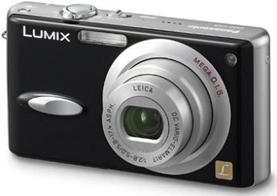 DMC-FX8 (Black) Lumix Ultra-Compact 5 Megapixel Digital Camera w/ 2.5` LCD