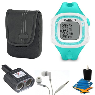 Forerunner 15 Heart Rate Monitor Bundle Small - Teal/White Bundle