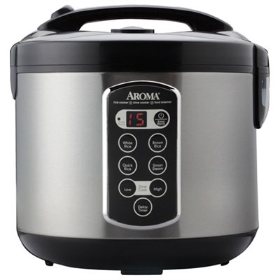 Professional 20 Cup Stainless Steel Rice Cooker/Slow Cooker/Steamer - OPEN BOX