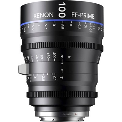 100MM Xenon Full Frame 4K Prime XN 2.1 / 100 Feet Lens for Canon EOS Mounts