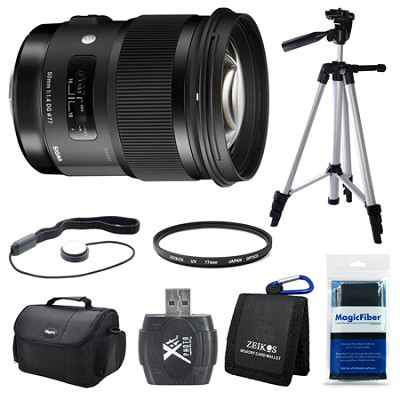 50mm f/1.4 DG HSM Lens for Sigma SA Cameras Bundle