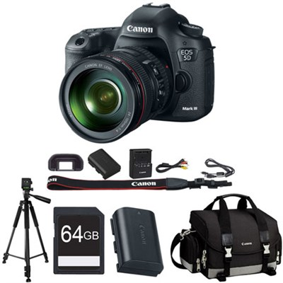 EOS 5D Mark III 22.3 MP Full Frame DSLR Camera 24-105mm f/4L IS Lens Bundle
