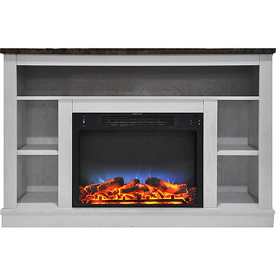 47.2 x15.7 x32.5  Seville Fireplace Mantel with LED Insert