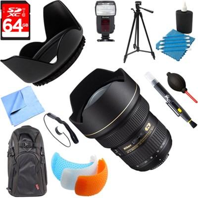 14-24mm f/2.8G AF-S NIKKOR ED Lens with Accessories Bundle