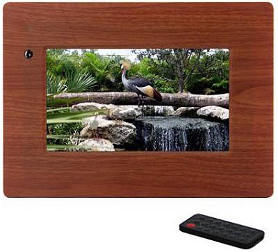 MI-PF 7- inch Digital Picture Frame (wood) w/ remote