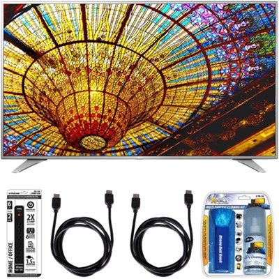 55UH6550 55-Inch 4K UHD Smart TV w/ webOS 3.0 Accessory Bundle
