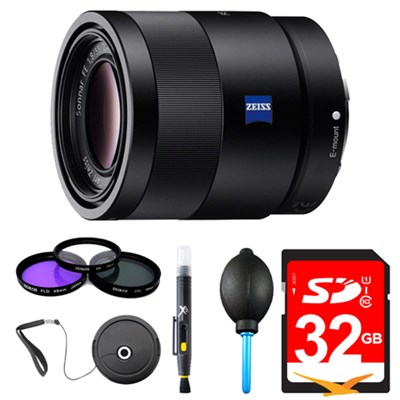 Sonnar T* FE 55mm F1.8 ZA Camera Lens Bundle