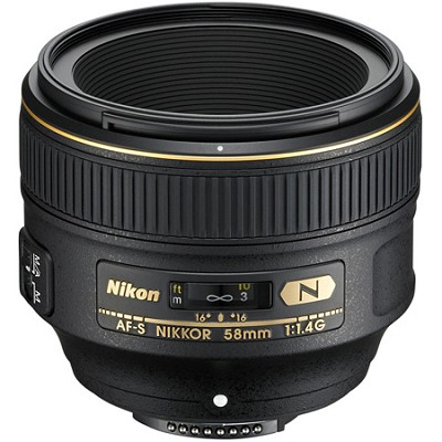 AF-S NIKKOR 58mm f/1.4G Lens Refurbished with warranty