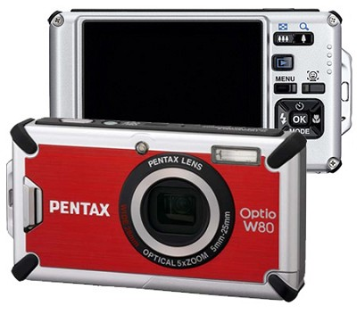 Optio W80 Waterproof Digital Camera (Cardinal Red)Outdoor Photo Editor's Choice