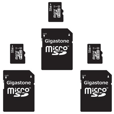 3-Pack - 32GB Class 10 U1 MicroSD Memory card with SD Adapter - 96GB Total