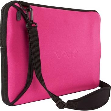 VAIO VGP-AMC9/P Reversible 15.5` Notebook Sleeve - Black and Pink
