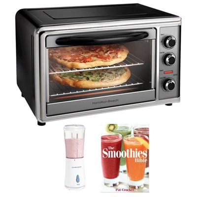 Countertop Oven with Convection & Rotisserie - Black Plus Bonus Smoothie Bundle