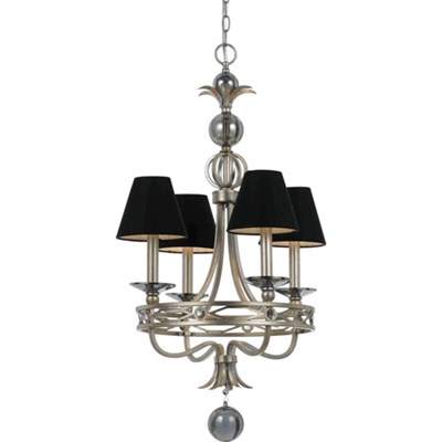 Cirque Mini Chandelier Crafted Square Metal Finished - 8701-4H