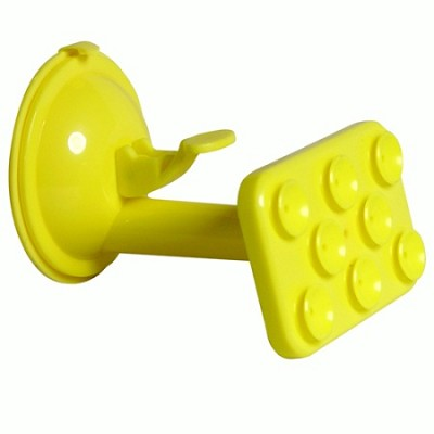 Windshield Suction Mount for Smartphones, GPS, Tablets - Yellow