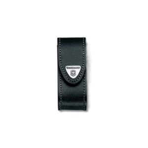 Black Leather Belt Pouch w/ Rotating Clip