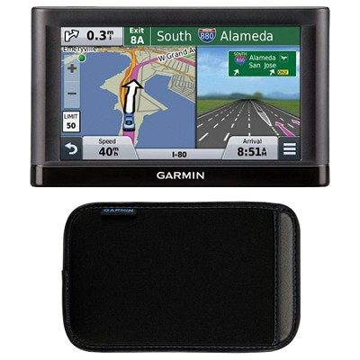 nuvi 55 Essential Series GPS Navigation System with 5` Display Case Bundle