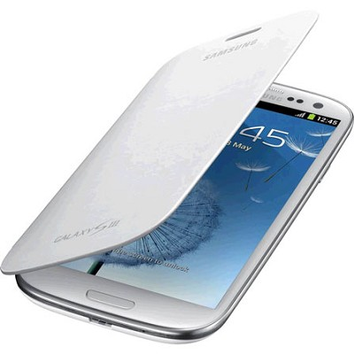 Galaxy S III Protective Flip Cover - Marble White