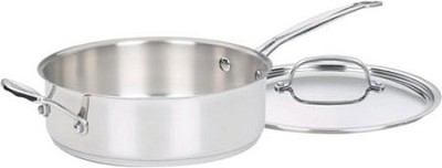 3.5 Quart Saute Pan w/Helper Handle and Cover