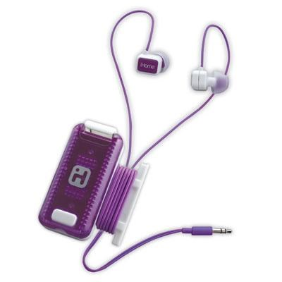 Fitness Earbuds with Clip-On LED Safety Flasher and Cord Wrap - iB12WU