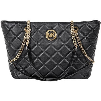 Fulton Large Quilted Tote in Black - 30H3GFQT3L-001