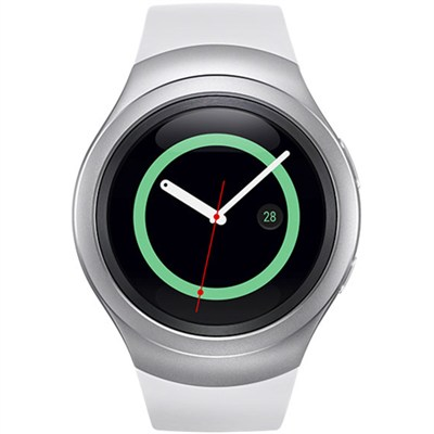 Gear S2 Smartwatch for Android Phones (Silver/White) SM-R7200ZWAXAR - OPEN BOX
