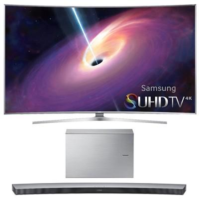 UN78JS9500 - 78-Inch Curved 4K 120hz SUHD 3D LED TV w/ HW-J7501 Soundbar Bundle