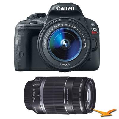 EOS Rebel SL1 18MP SLR Camera & EF-S 18-55mm IS STM + 55-250 IS Lens