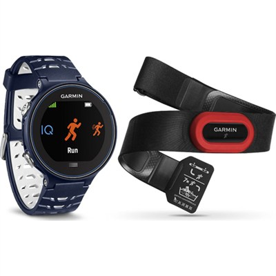 Forerunner 630 GPS Smartwatch Heart Rate Monitor Bundle - Midnight Blue
