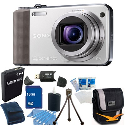 Cyber-shot DSC-HX7V White Digital Camera 16GB Bundle